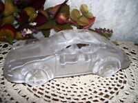 GLASS PAPERWEIGHT SPORTS CAR