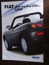 FIAT BARCHETTA Lido speciale modello prospetto/brochure/DEPLIANT, D, 1.2000