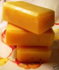 HANDMADE GARDENERS CORNMEAL LEMON SOAP 3  five OZ  BARS