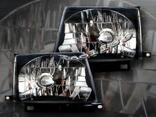 97-99 00 Toyota Tacoma Headlights Crystal BK 98 Lamps