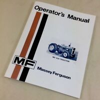 MASSEY FERGUSON MF 230 TRACTOR OPERATORS OWNERS MANUAL FARM DIESEL GASOLINE