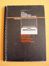 studer a725 service und bedienungsanleitung