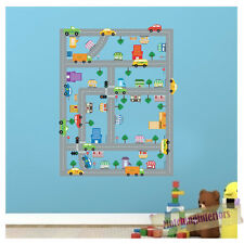 Childrens Traffic Express Cars Wall Stickers Decals Nursery Boys Bedroom Kids