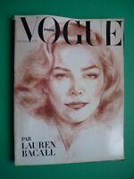 Vogue Paris Decembre 1978 Janvier 1979 December Lauren Bacall Guy Bourdin