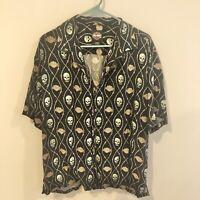Vintage Harley Davidson Skull & Crossbone Button Up Shirt Men's Large