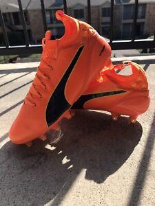 Puma Evotouch pro Fg Football Shoes Men's Leather Orange 103671 08