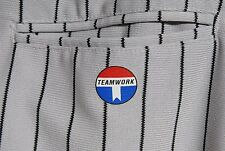 Mens Teamwork Baseball Pants Adult Size 32 Gray Black Stripes Athletic Softball