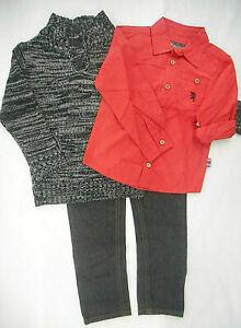 Boys English Laundry $68 Sweater/Dress Shirt/Jeans 3PC. Set Sizes 4, 5, & 6