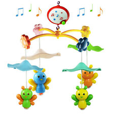 Baby Toys Nursery Cot Mobile Wind up Music Box Lullaby Sounds Crib Bell Holder