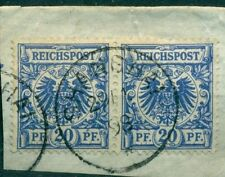 Briefstück-Briefmarken aus der deutschen Post in China