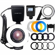 Travor 48-LED Macro Ring Flash Light RF550D for Nikon Canon Sony Camera