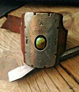 Sundance Four Directions Belt Buckle Reworked Turquoise Ketoh Cuff