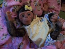 REBORN NEWBORN INFANT APE CHIMP MONKEY BABY ARTIST DOLL OOAK PRIMATE CHIMPANZEE