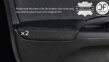 Puntada Negro 2X Cubierta De Cuero Apoyabrazos puerta delantera se ajusta Honda CRV 2012-2016