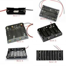 AA / UM-3 Wired Battery Box in 1, 2, 3, 4, 6, 8 Cell Holder Sizes - Free P&P
