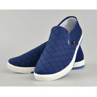 Canvas Breathable Slip On Loafers Casual Mens Cotton Shoes Driving Shoe Size New
