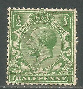Great Britain 1924 King George V 1/2p green wmk sideways (187a) used