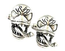 Metal Cufflinks Venom 3D Silvertone