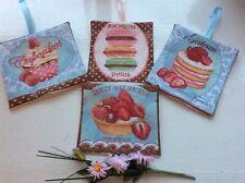 Lavendel gefüllt Taschen Beutel hängende Dekorationen französisch Patisserie Gebäck Kuchen B