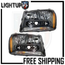 Headlights Headlamps Pair Left right set for 02-09 Chevrolet Trailblazer