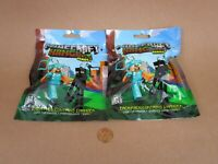 "New! Minecraft Series 2 Mystery Blind Bag 3"" Figure Hangers (Lot Of 2) JINX"