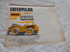 Vintage Brochure Caterpillar tractor DW20 grader 1964 heavy plant french