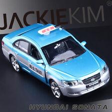 Blue 1/32 Scale Hyundai Sonata Peking TAXI Car Diecast Model With Sound & Light