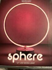 Neon Pink Sphere Light Lamp Battery Home Bar Pub Led Night Sign Bird Desk