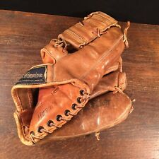 Vintage Baseball Glove Jackie Brandt JC Higgins Model 28 Leather Sears Roebuck