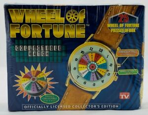 1999 Wheel of Fortune Collectable Watch Leather Strap Gold Plated Brand New