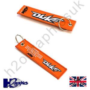 New KTM Duke Embroidered Keyring Key Chain UK Seller Fast Shipping Orange