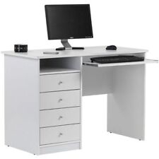 Computer Table Desk Workstation for Home Office study Student White by Alphason