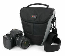 Portable Black & Silver Case Bag with Shoulder Strap for Fujifilm X-T2 Camera