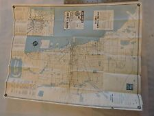 Rare 1952 Trolley Subway Bus Chicago Surface Lines Map Brochure Timetable