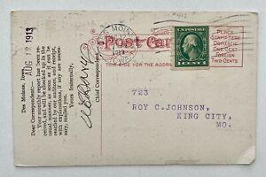 See Photos 1913 1c Coil Des Moines Iowa to King City MO
