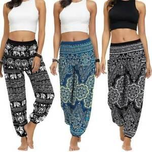 Women Baggy Boho Ali Baba Harem Pant Lady Loose Yoga Gypsy Hippie Hareem Trouser