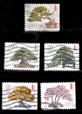 BONSAI # 4618-22 Stamps Pine Maple Juniper Banyan Azalea US Used