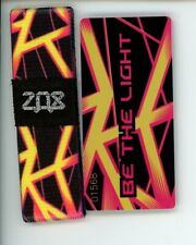 ZOX Silver Strap BE THE LIGHT Wristband with Card Reversible