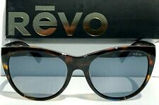 New!Revo Barclay Tortoise Blue Polarized Graphite LensWomens Sunglass 1037 22 Gy