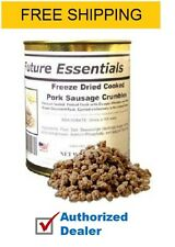Future Essentials Freeze Dried Pork Sausage Crumbles, FREE SHIPPING