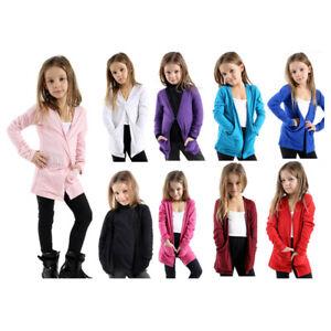 KIDS GIRLS  BOYFRIEND CARDIGAN TOPS  FASHION SHRUG SCHOOL AGES TOP VEST 4 TO 13