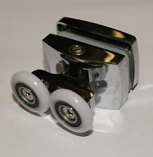 1 x TWIN TOP ZINCO LEGA Doccia Porta Rullo / corridori 23 mm diametro della ruota LUX2
