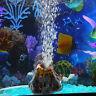Aquarium Vulkan Luftblasenpumpe Dekor Verzierungs Wasser Stein Sprudler Fisch