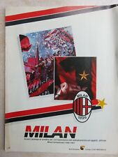 Primo catalogo abbigliamento gadget oggetti squadra di calcio MILAN 1899 1986 87
