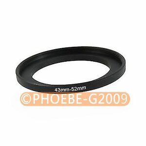 43mm to 52mm 43-52 mm Step Up Filter Ring  Adapter