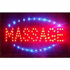 Massage Sign For Open Business - Led Light Ultra Bright With Hanging Metal Chain