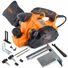 VonHaus 7.5 Amp Electric Handheld Wood Planer Woodworking with 2 Spare Blades