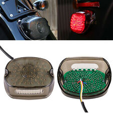 SmokeLED Tail Brake Turn Signal Light For Harley Sportster Softail Dyna Lay Down