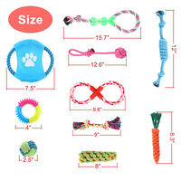 10PCS Dog Rope Toys Dog Chew Toys Puppy Teething Toys for Small Medium LargeDogs