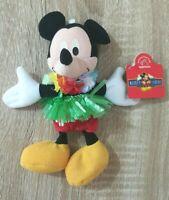 Applause Mickey Mouse Aloha Hula Hawaii Lei Soft Plush Stuffed Toy 19CM